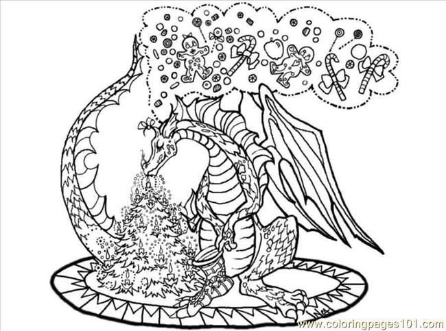 Dragontree Coloring Page