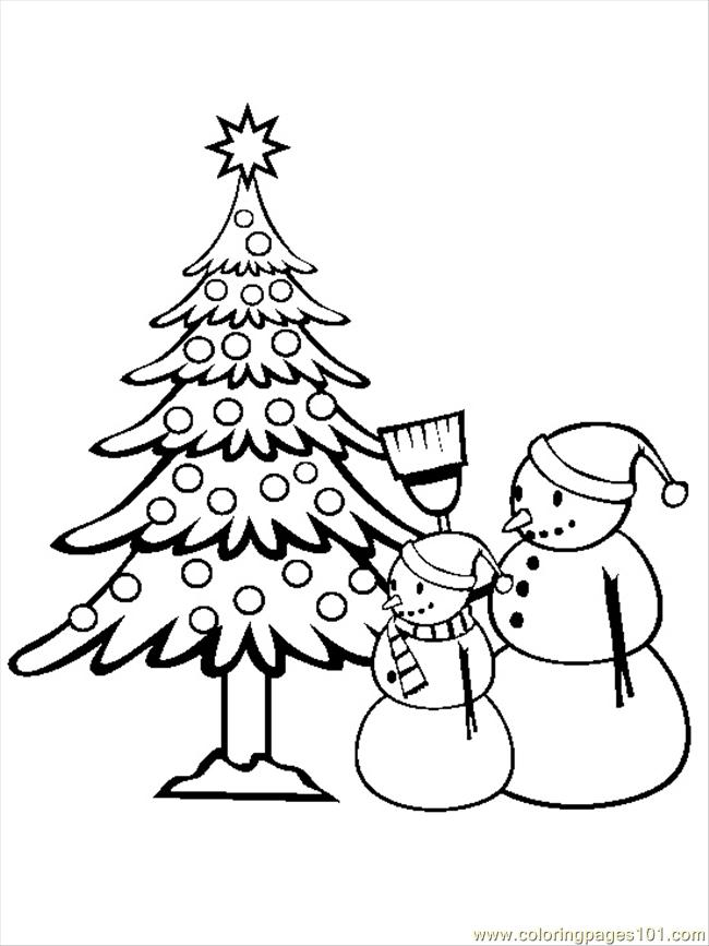 Istmas Tree Coloring Pages 13 Coloring Page