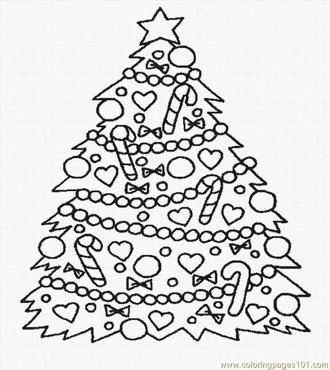 Stmas Tree Coloring Pages Lrg Coloring Page