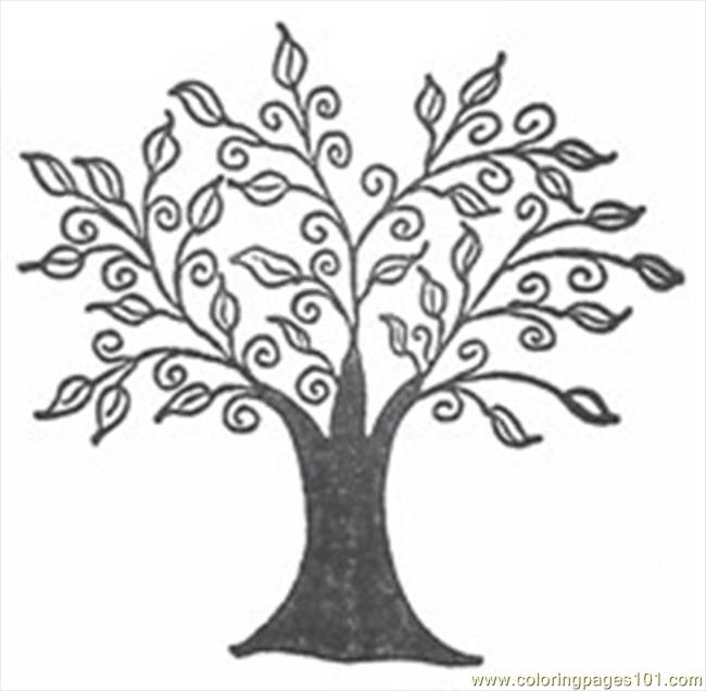 Swirly Tree R38x Coloring Page Free Trees Coloring Pages
