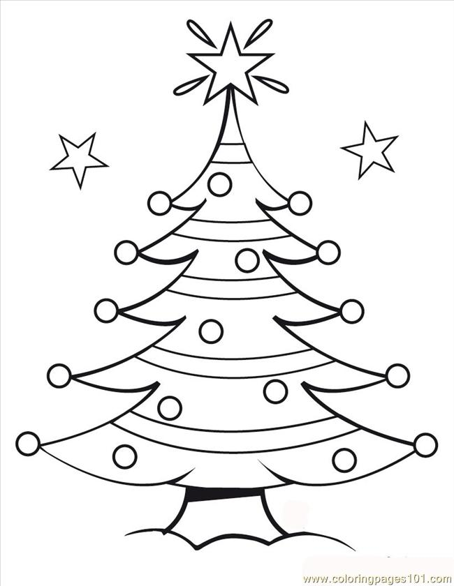 Tmas Tree Coloring Source Sjo Coloring Page