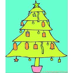 Christmas Tree2 Free Coloring Page for Kids