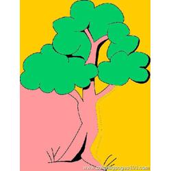 Tree Coloring Page 130 Free Coloring Page for Kids