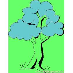 Tree Coloring Page 13 Free Coloring Page for Kids