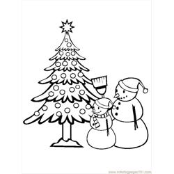 Istmas Tree Coloring Pages 13