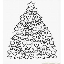 Stmas Tree Coloring Pages Lrg