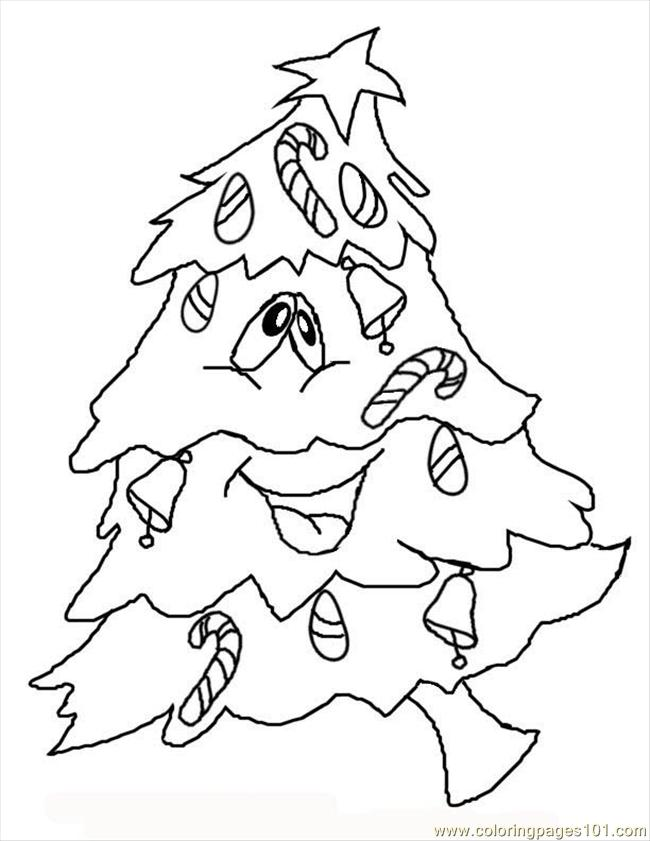 Xmastree Coloring Page
