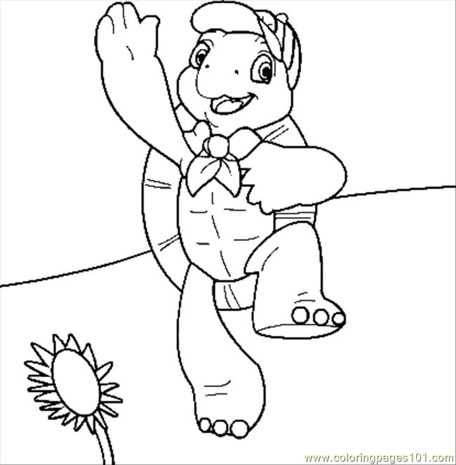 Franklin Coloring Page Free Turtle Coloring Pages