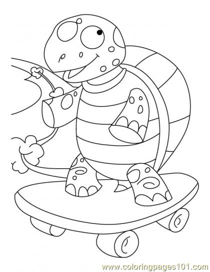 Tortoise Coloring Page6 coloring page - Free Printable Coloring Pages