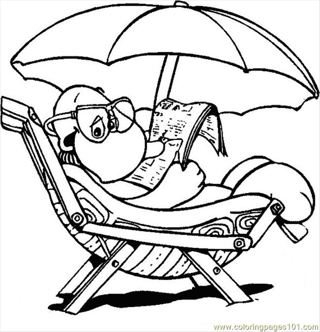 Turtle Beach Chair Coloring Page Free Turtle Coloring Pages