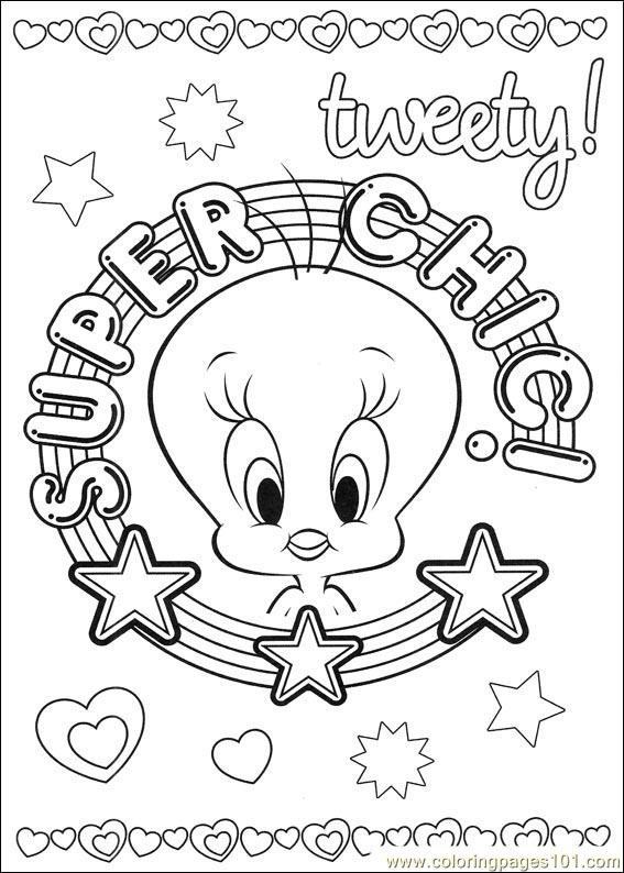 Tweety 52 Coloring Page - Free Tweety Bird Coloring Pages ...