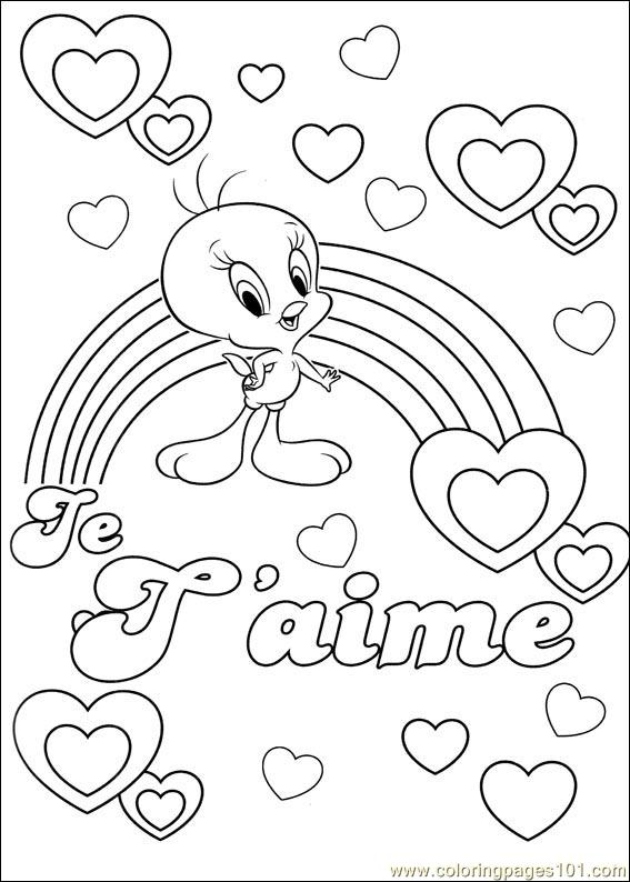 Tweety Bird Christmas Coloring Pages. fun coloring pages tweety ... | 794x567