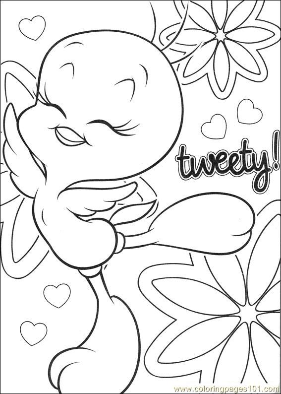 tweety 62 coloring page