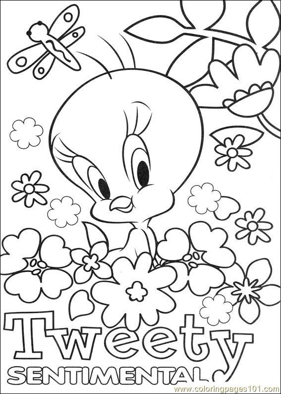 Tweety 64 Coloring Page Free Tweety Bird Coloring Pages