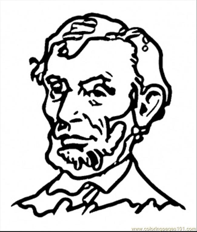 Abraham Lincoln Coloring Page Free USA Coloring Pages