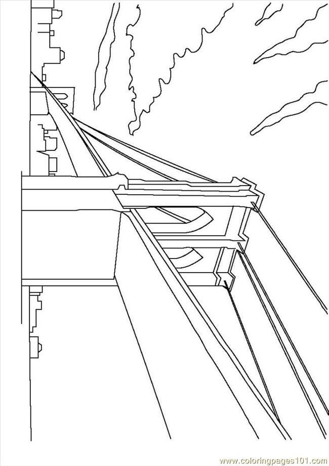 Brooklyn Bridge Coloring Page Free USA Coloring Pages