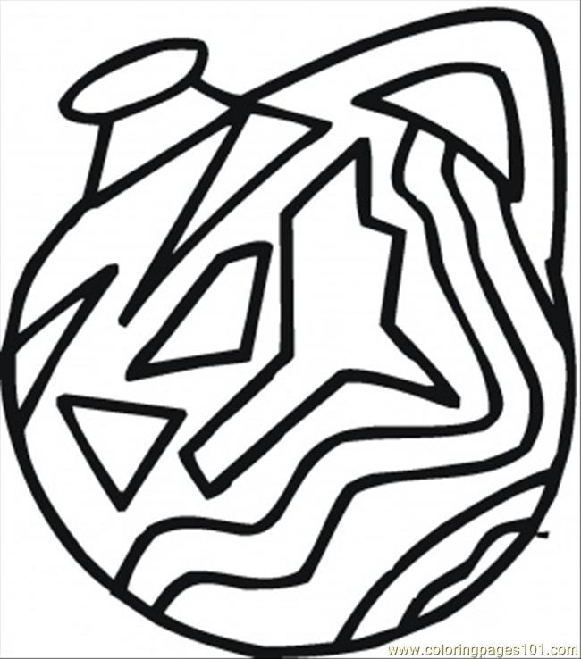 Indian Vase Coloring Page