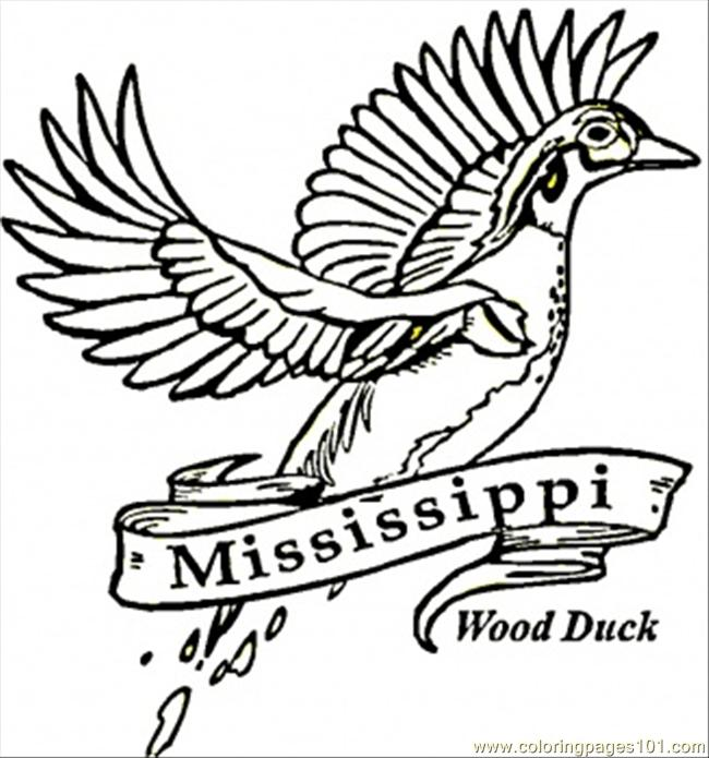 Mississippi Coloring Page Free