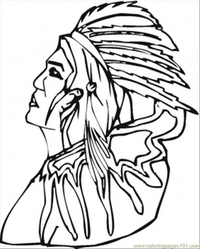 old red indian coloring page  free usa coloring pages