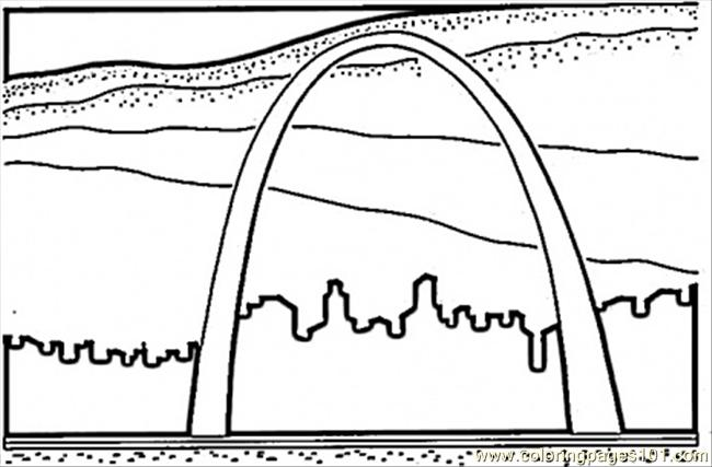Peoria To St. Louis In Missouri Coloring Page