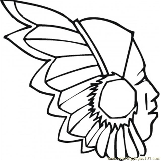 Red Indian Coloring Page