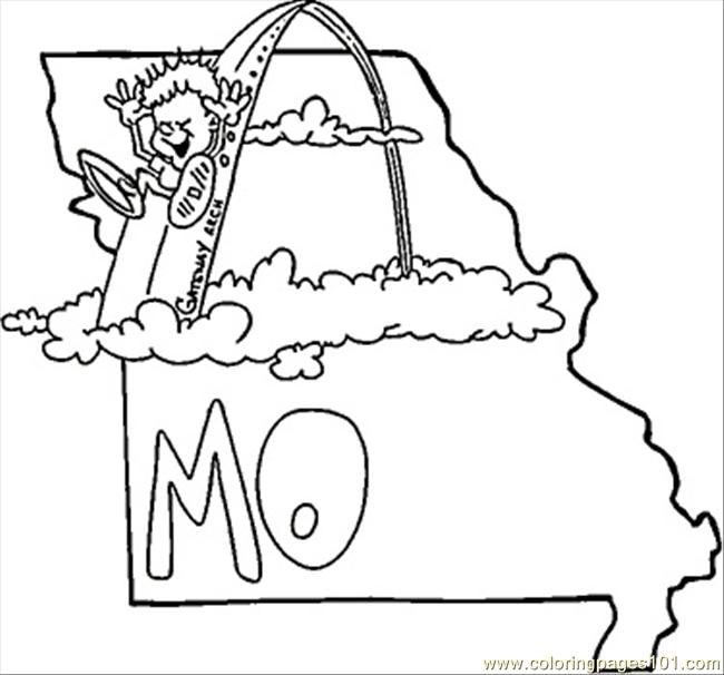 State Of Missouri Coloring Page