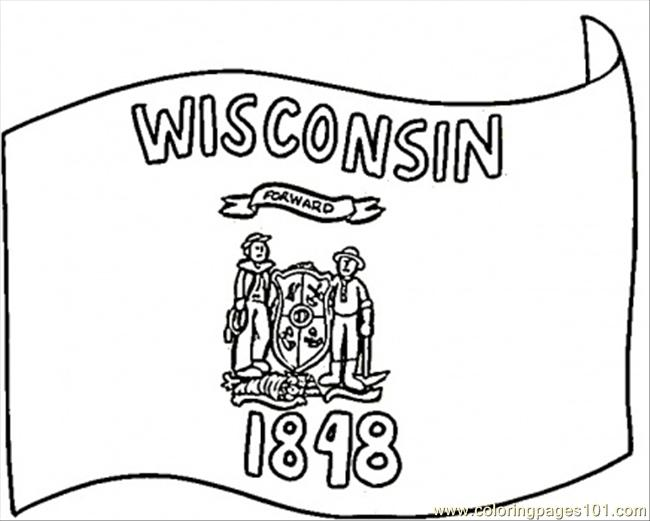 Wisconsin Flag Of 1848 Coloring Page