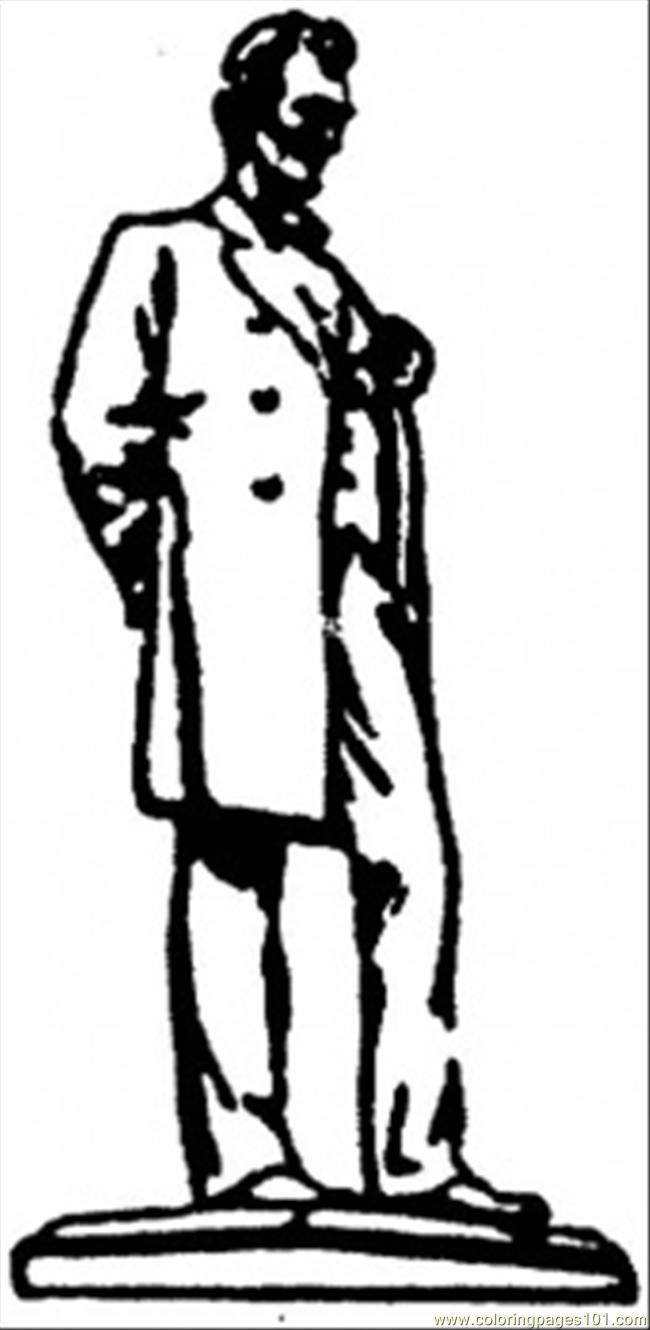 Abraham Lincoln Coloring Pages Pdf : Abraham lincoln coloring page free usa pages