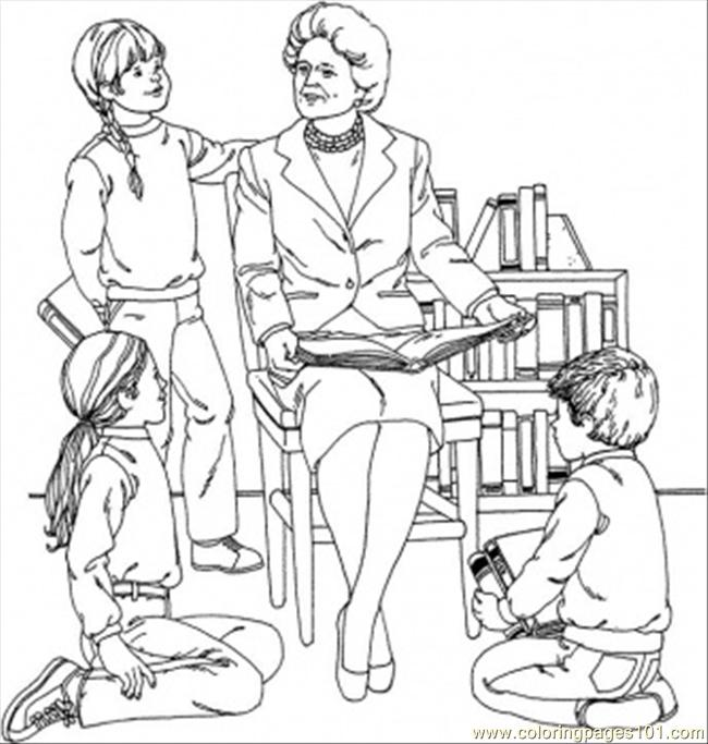 Barbara Bush Coloring Page