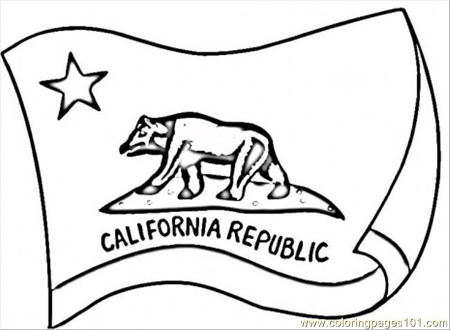 California Flag Coloring Page Free USA Coloring Pages