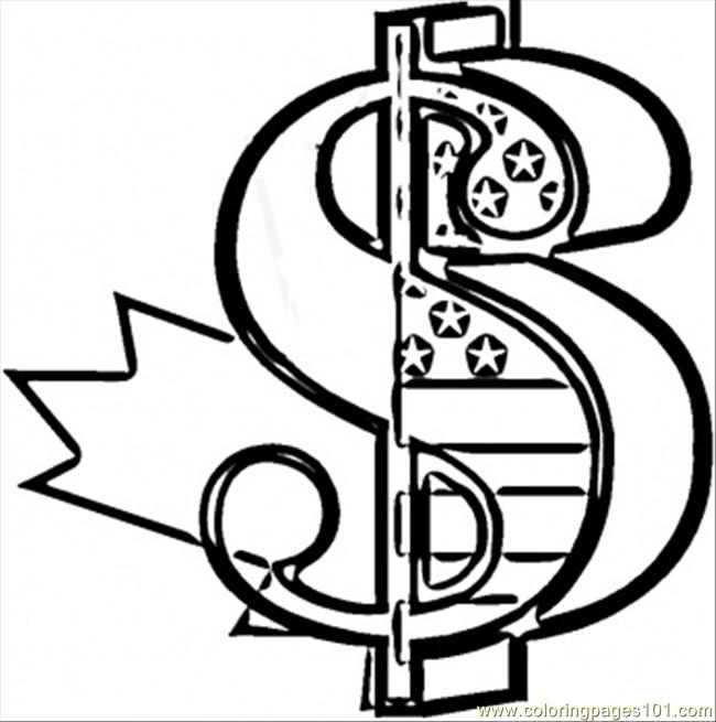 dollar coloring page - dollar coloring page free usa coloring pages