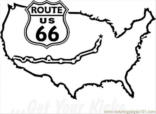 Famous Route 66 Coloring Page Free Usa Coloring Pages Route 66 Coloring Pages