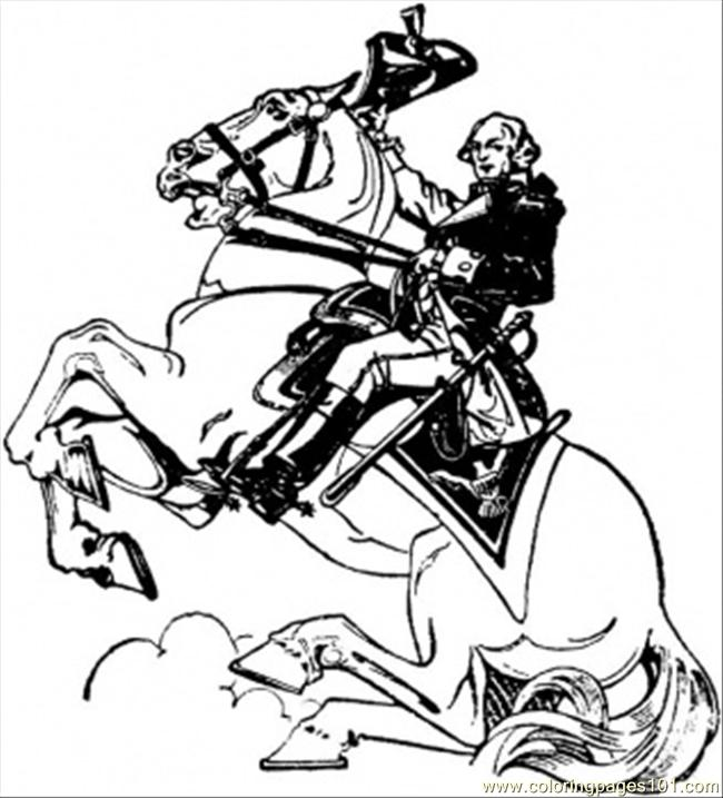 George Washington 2 Coloring Page