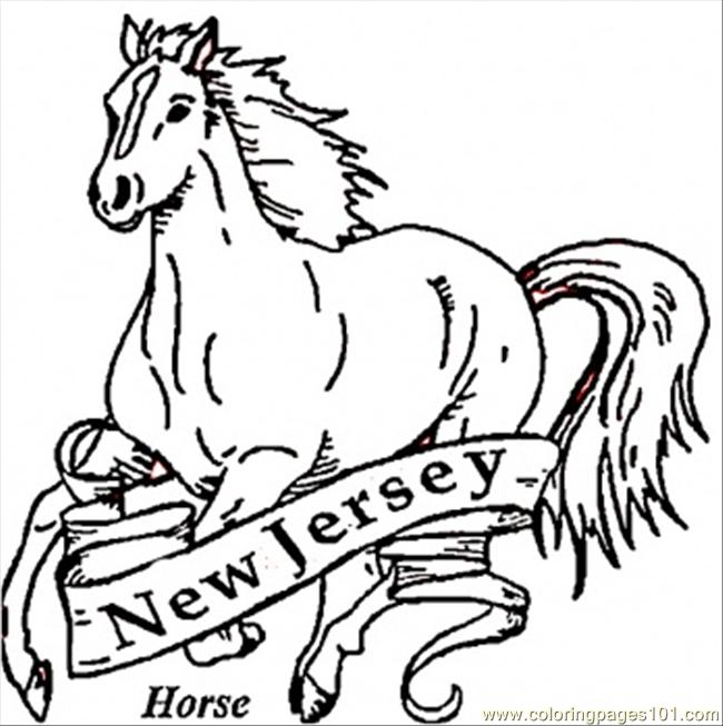 Horse Of New Jersey Coloring Page