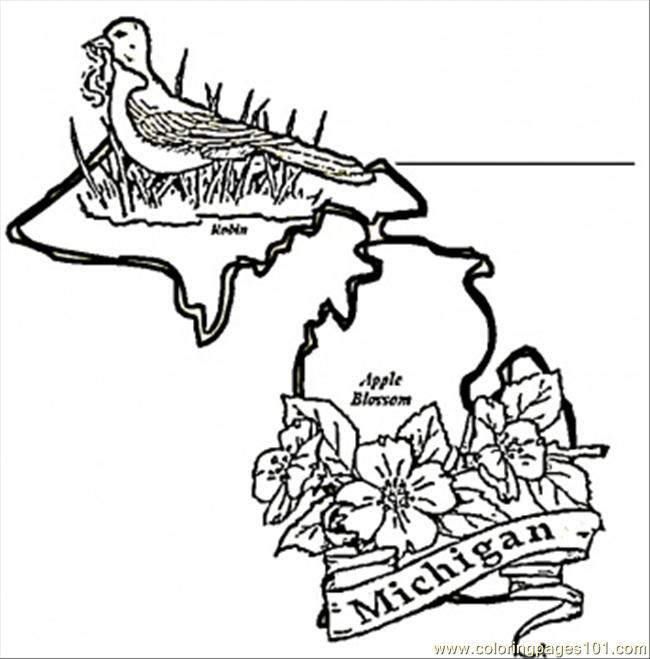 Map Of Michigan Coloring Page - Free USA Coloring Pages ...