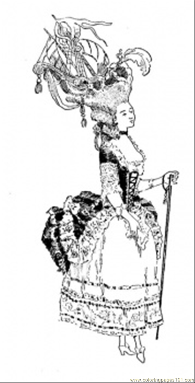 Marie Antoinette Coloring Page Free Usa Coloring Pages