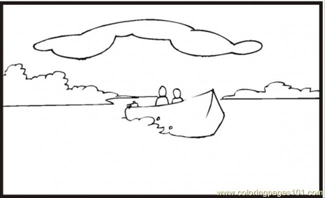 coloring pages on lake - photo#21