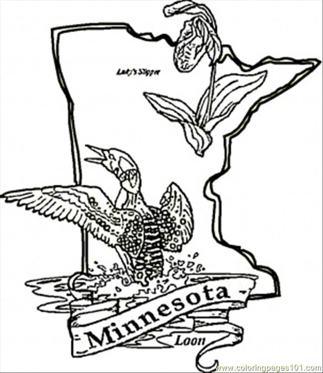 Minnesota Coloring Page Free USA Coloring Pages