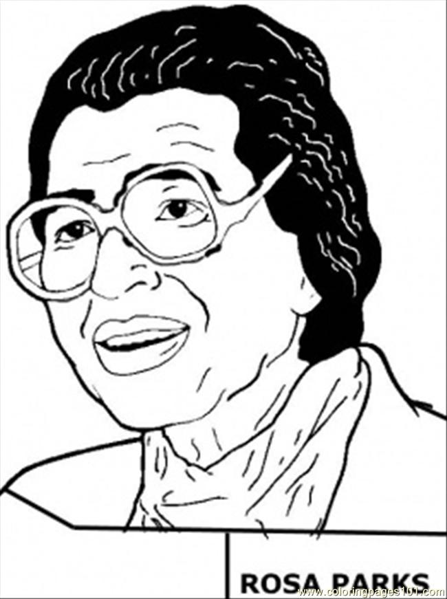 Rosa Parks Coloring Page Free Usa Coloring Pages