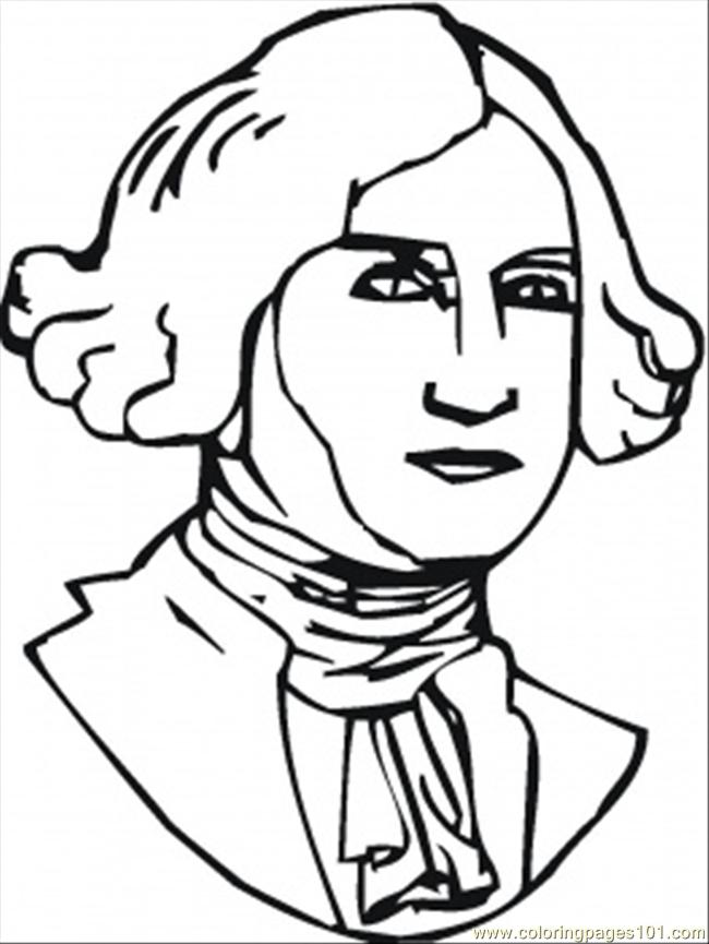 Thomas Jefferson Coloring Page Free USA Coloring Pages