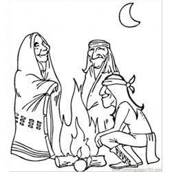 American Indians Free Coloring Page for Kids