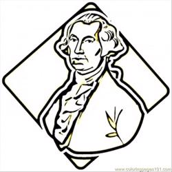 George Washington Free Coloring Page for Kids