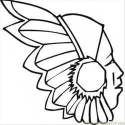 Red Indian Free Coloring Page for Kids