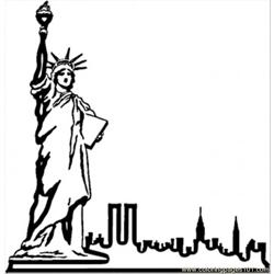 Statue In Nyc Free Coloring Page for Kids