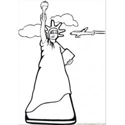 Statue Of Liberty New York Free Coloring Page for Kids