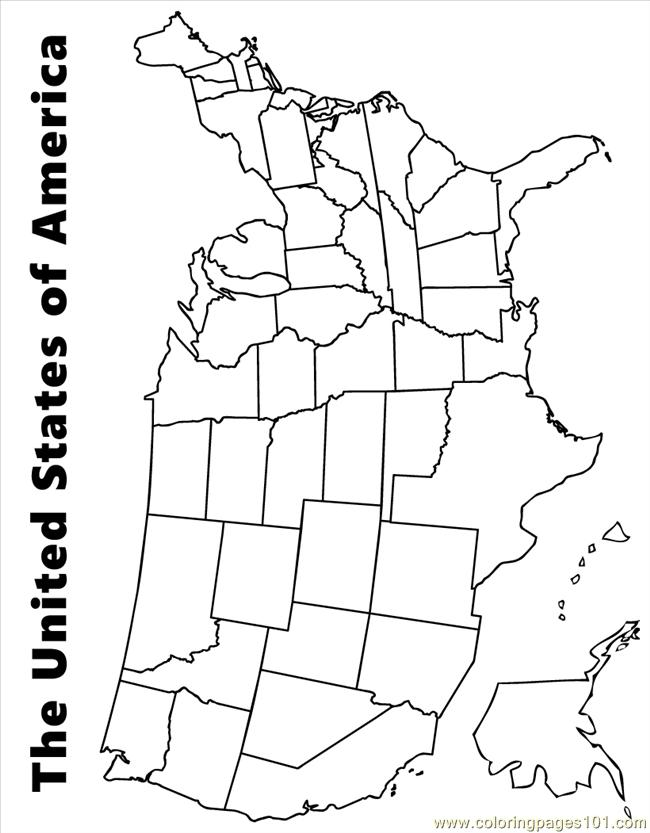 Usa Map Source Sii Coloring Page