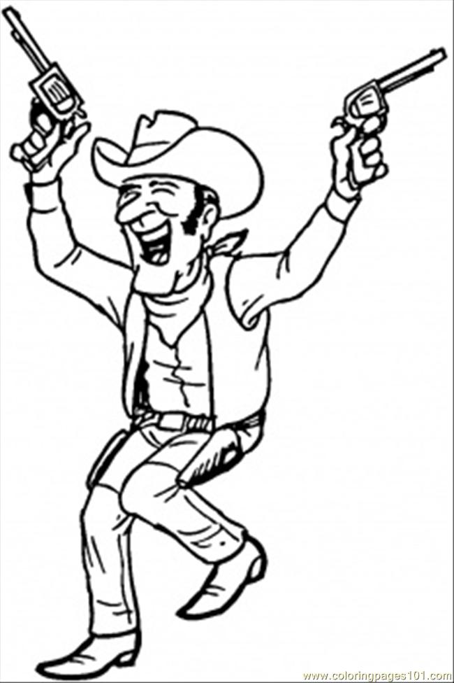 Western Guy Coloring Page Free