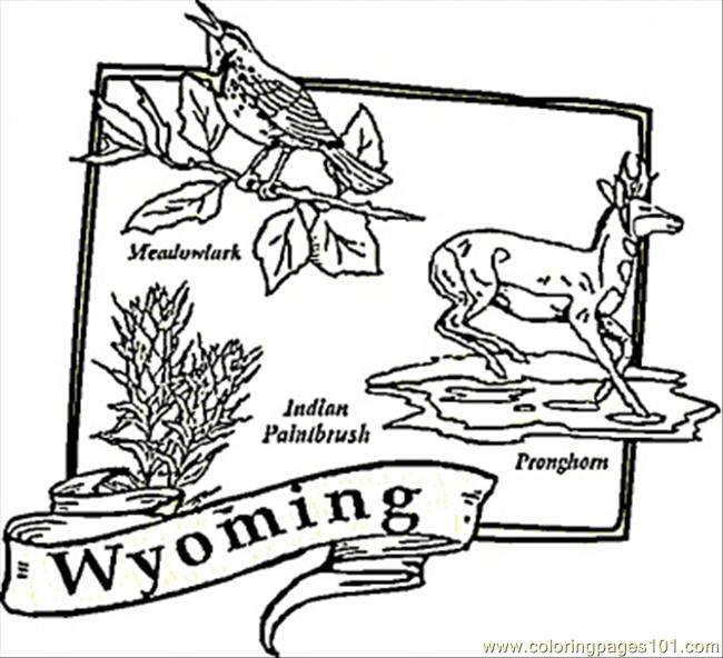 Wyoming Map Coloring Page