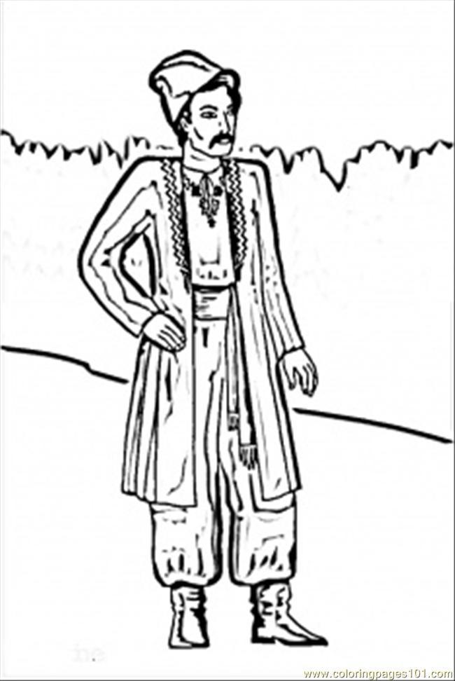 ukrainian man coloring page