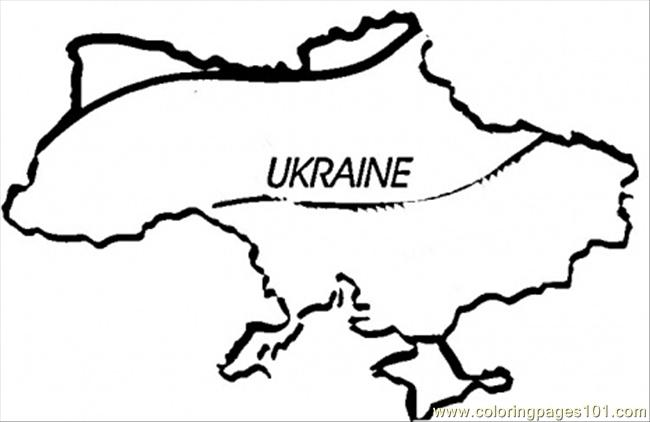 Map Of Ukraine Coloring Page Free Ukraine Coloring Pages